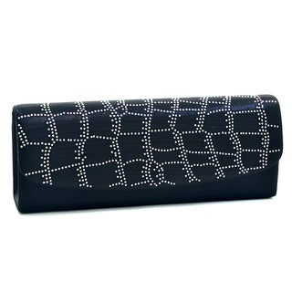 Dasein Abstract Rhinestone Evening Clutch