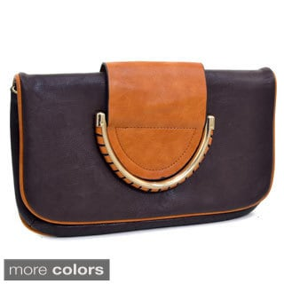 Dasein Two-tone Fold-over Clutch Purse