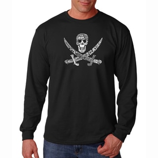 Men's 'Pirate Pictures' Long Sleeve T-shirt