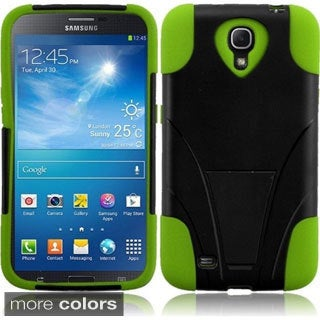 INSTEN T-Stand Dual Layer Hybrid Stand PC Soft Silicone Phone Case Cover for Samsung Galaxy Mega 6.3-inch