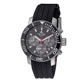TW Steel Men's TW700 'Grandeur Dive' Black Dial Chronograph Swiss Quartz Watch