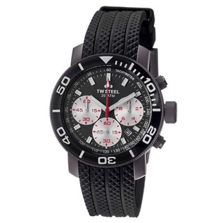 TW Steel Men's TW704 'Grandeur Dive' Grey Dial Black Rubber Strap Watch