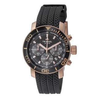 TW Steel Men's TW702 'Grandeur Dive' Black Dial Chronograph Quartz Watch