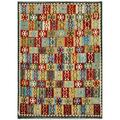 Afghan Hand-woven Kilim Gold/ Red Wool Rug (8'2 x 11'5)
