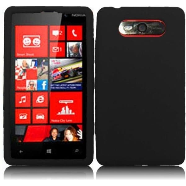 INSTEN Soft Silicone Phone Case Cover for Nokia Lumia 820