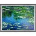 Claude Monet Water Lilies Hand Painted Framed Canvas Art