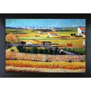 Vincent Van Gogh 'The Harvest' Hand-painted Framed Oil on Canvas Art Reproduction
