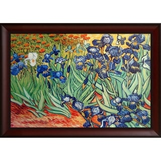 Vincent Van Gogh 'Irises' Hand-painted Framed Canvas Art