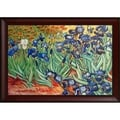 Vincent Van Gogh Irises Hand Painted Framed Canvas Art