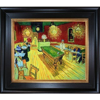 Vincent Van Gogh 'The Night Cafe' Hand Painted Framed Canvas Art