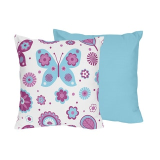 Sweet Jojo Designs Spring Garden Reversible Throw Pillow