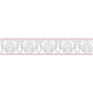 Sweet Jojo Designs Pink, Grey and White Elizabeth Modern Wall Paper Border