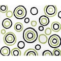 Sweet Jojo Designs Spirodot Lime and Black Accent Floor Rug