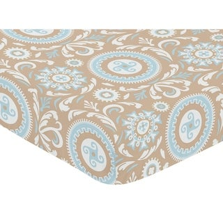 Sweet Jojo Designs Hayden Medallion Print Fitted Crib Sheet