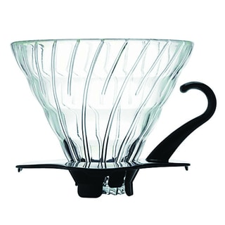 Hario V60 Glass Coffee Dripper Size 02 - Black