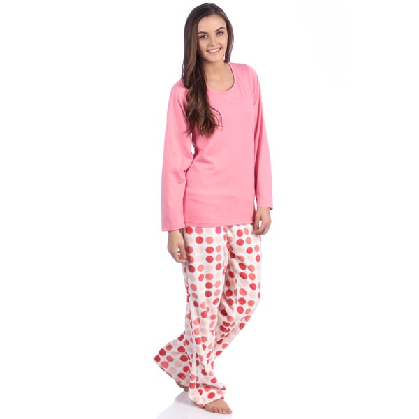 Aegean Apparel Printed Plush Pajama Set