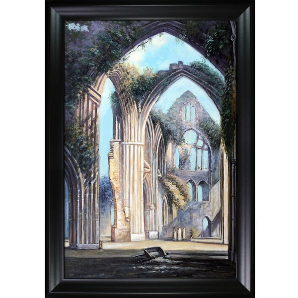 Joseph William Turner Tintern Abbey Hand Painted Framed Canvas Art