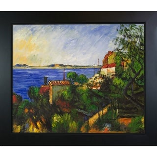 Paul Cezanne La Mer Al'Estaque Hand Painted Framed Canvas Art