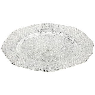 IMPULSE! Eternity Silver Charger Plates (Set of 4)