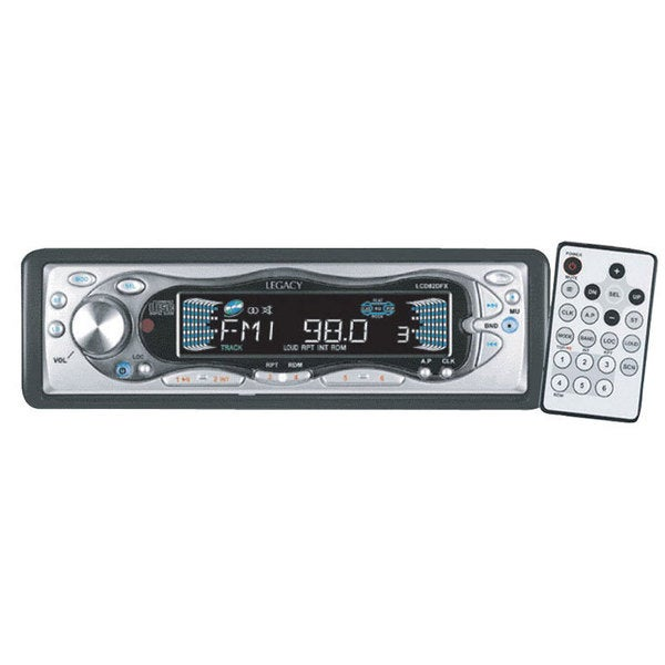 Legacy RBLCD82DFX In-Dash AM/FM CD Player Receiver w/ Flip Down Detachable Face (Refurbished)