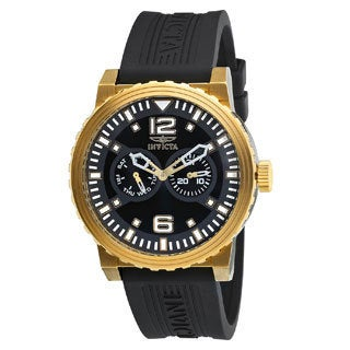 Invicta Men's Gold and Black Specialty Day/Date Sports Watch