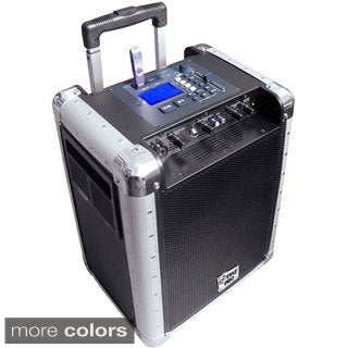 PylePro PCMX265B Battery Powered Portable PA Speaker System W/ USB/SD/AUX Input & DJ Controls (Refurbished)