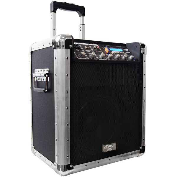 Pyle PCMX260MB Battery Powered Portable PA System w/ USB/SD/MP3 Inputs & Microphone (Refurbished)