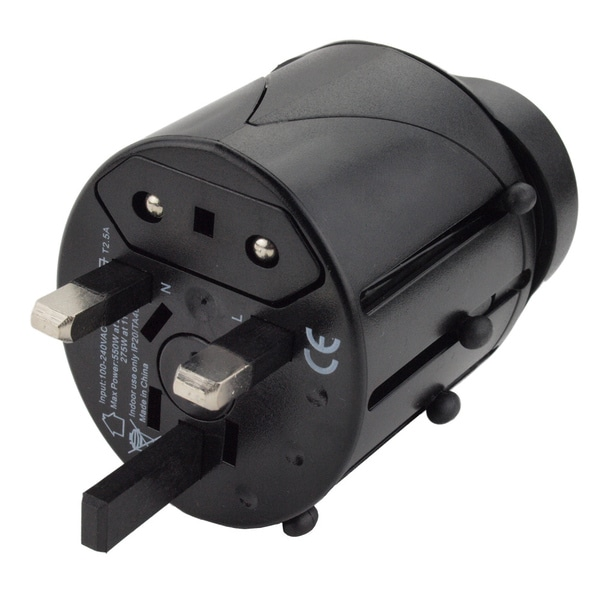 Compact Universal All-in-one Travel Power Adapter Plug