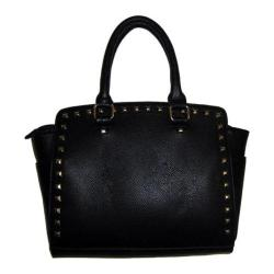Women's Blingalicious Leatherette Handbag with Studs Q2025 Black