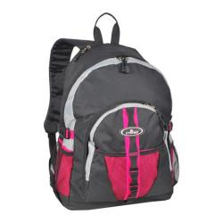 Everest Backpack with Dual Mesh Pocket Hot Pink/Gray/Black