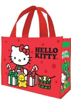 """Hello Kitty """"Happy Holidays"""" Large Gift Tote (General merchandise)"""