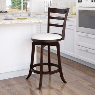 CorLiving 'Woodgrove' Espresso and Cream Leatherette Wooden Barstool