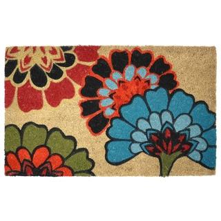 Yaki Floral Pattern Coir Doormat
