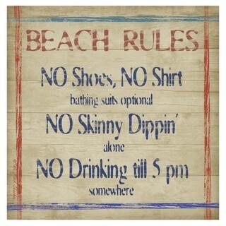 Beach Rules Coaster Set