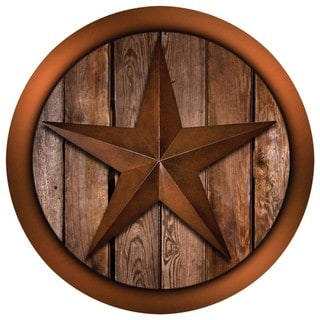 Western Star on Barnwood Coaster Set