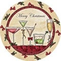 Merry Christmas Cocktails Coaster Set