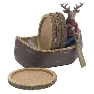 Deer in Canoe Coasters Gift Set