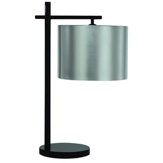 'Pluto' Modern Silver Aluminum Table Lamp