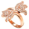 Rose Gold-plated Sterling Silver Tulip Bypass Ring