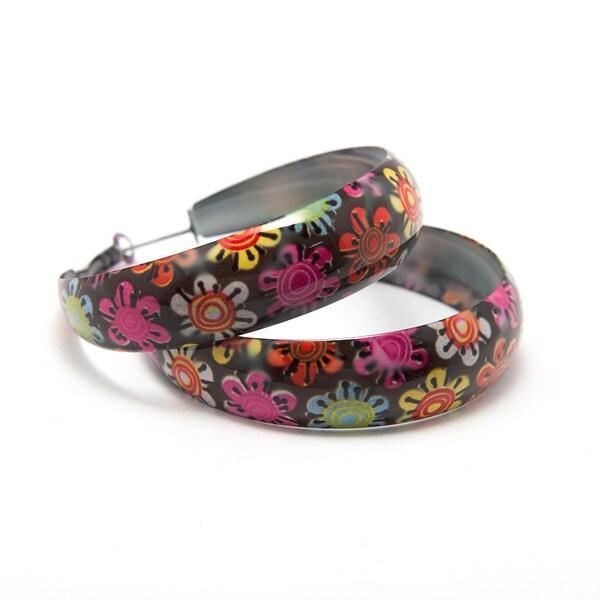 Sitara Handcrafted Floral Enamel Earrings (India)