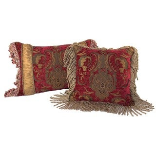 Sherry Kline China Art Red Luxury Pillows (Set of 2)