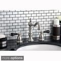 Satin Nickel and Black Widespread Bathroom Faucet