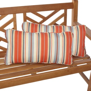 Tango Stripe 12 x 24 Inch Indoor/ Outdoor Lumbar Pillows (Set of 2)