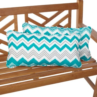 Tropic Zazzle 12 x 24 Inch Indoor/ Outdoor Lumbar Pillows (Set of 2)