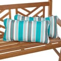 Tropic Stripe 12 x 24 Inch Indoor/ Outdoor Lumbar Pillows (Set of 2)