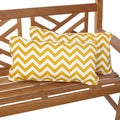 Chevron Yellow 12 x 24 Inch Indoor/ Outdoor Lumbar Pillows (Set of 2)
