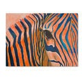 Judy Harris 'Orange Zebra' Canvas Art