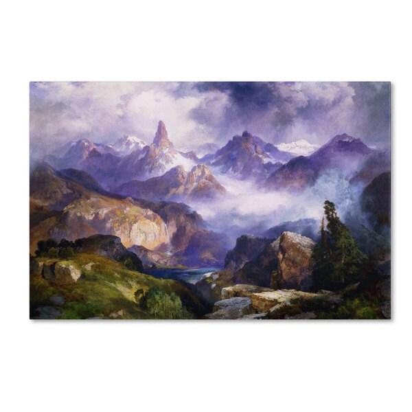 Thomas Moran 'Index Peak 1914' Canvas Art