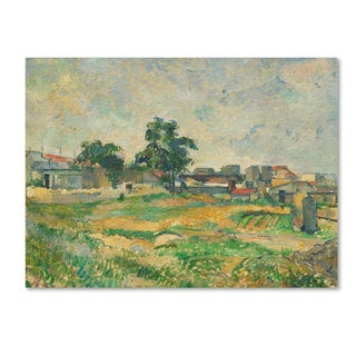 Paul Cezanne 'Landscape Near Paris 1876' Canvas Art