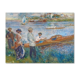 Pierre Renoir 'Oarsmen at Chatou' Canvas Art